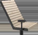Vridbar Solstol för utomhusmiljö