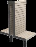 Dubbelstol med hög rygg för utomhusmiljö