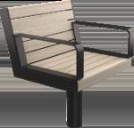 Line stol för utomhusmiljö